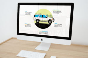 Custom graphic SUV illustration for PowerPoint, by Brevity & Wit