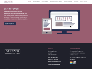 Seltzer Law Firm website by Brevity & Wit