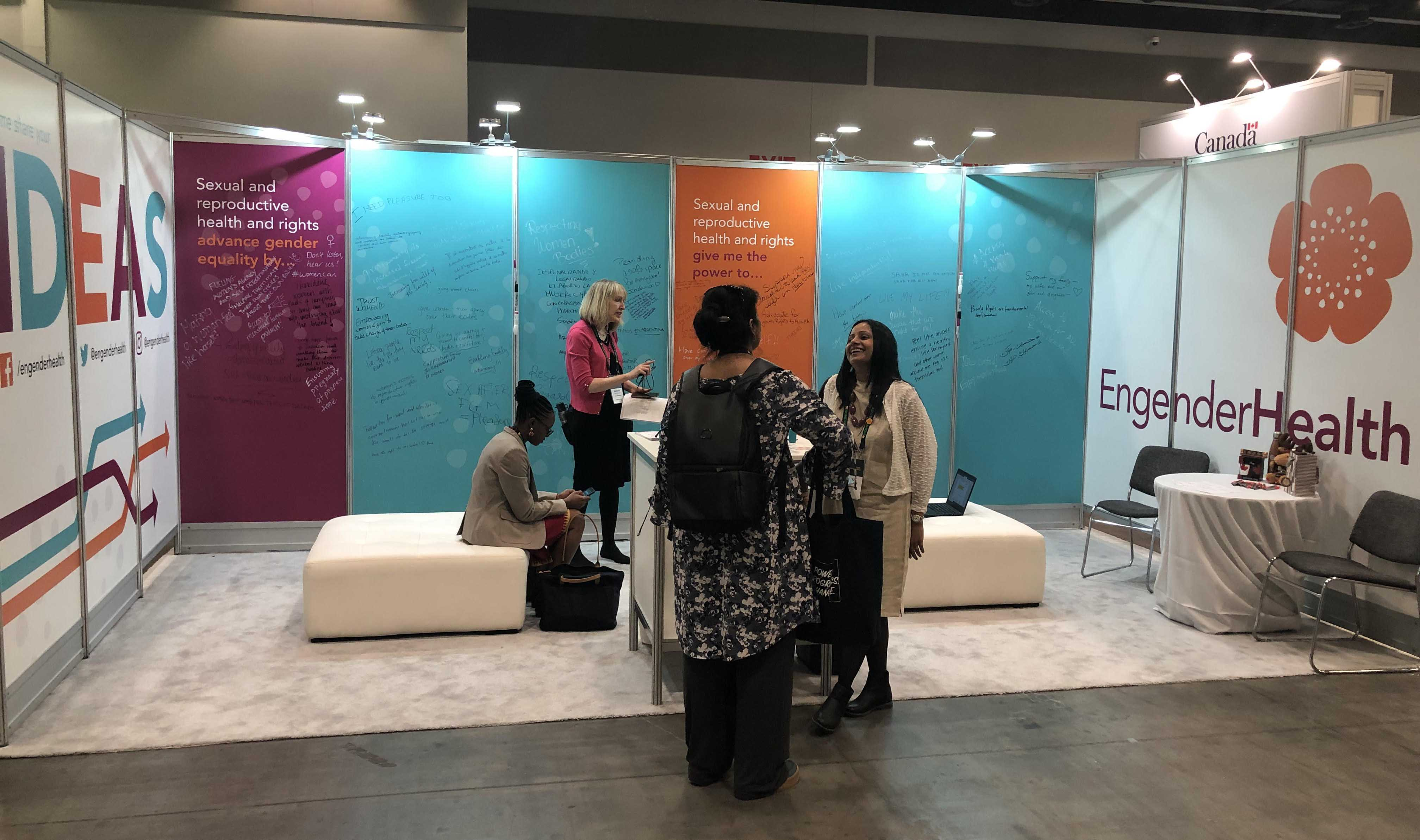 EngenderHealth booth by Brevity & Wit