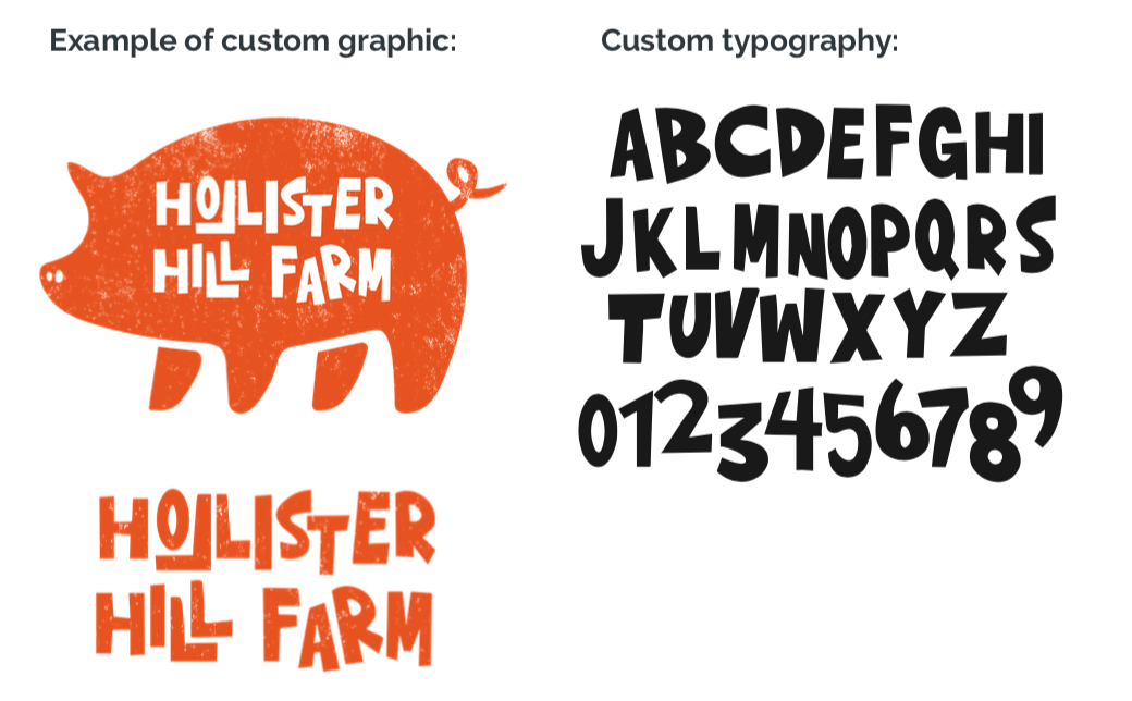 Custom graphic and typography