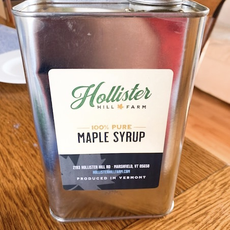 HHF maple syrup label